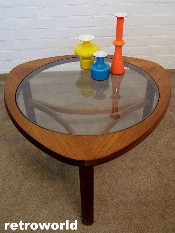 vintage nathan teak & glass coffee table