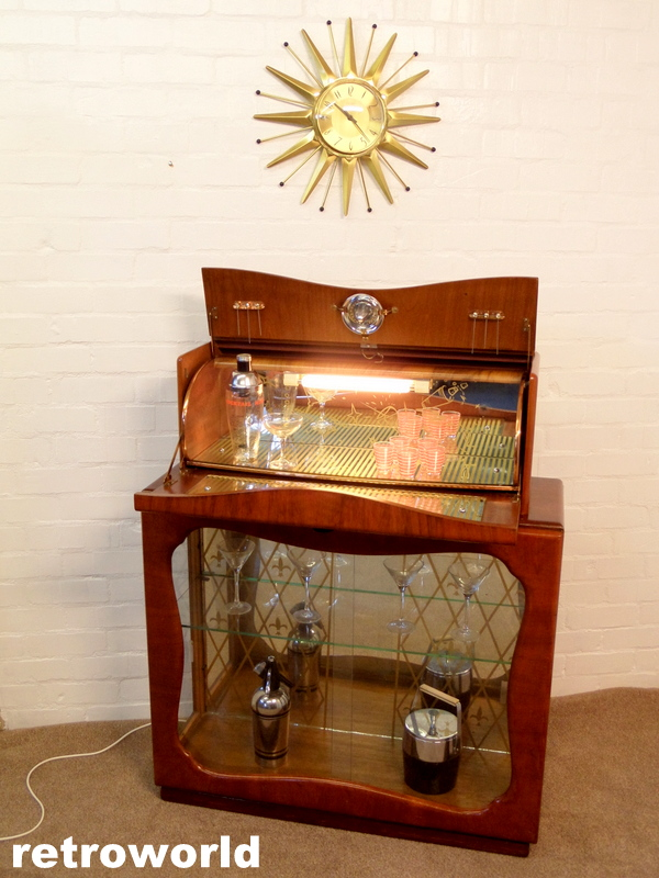vintage rivington cocktail drinks cabinet