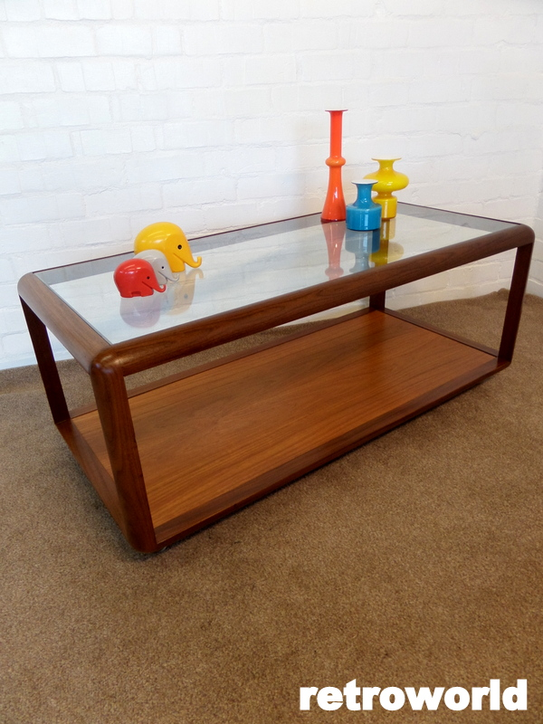 Vintage teak & glass g plan coffee table