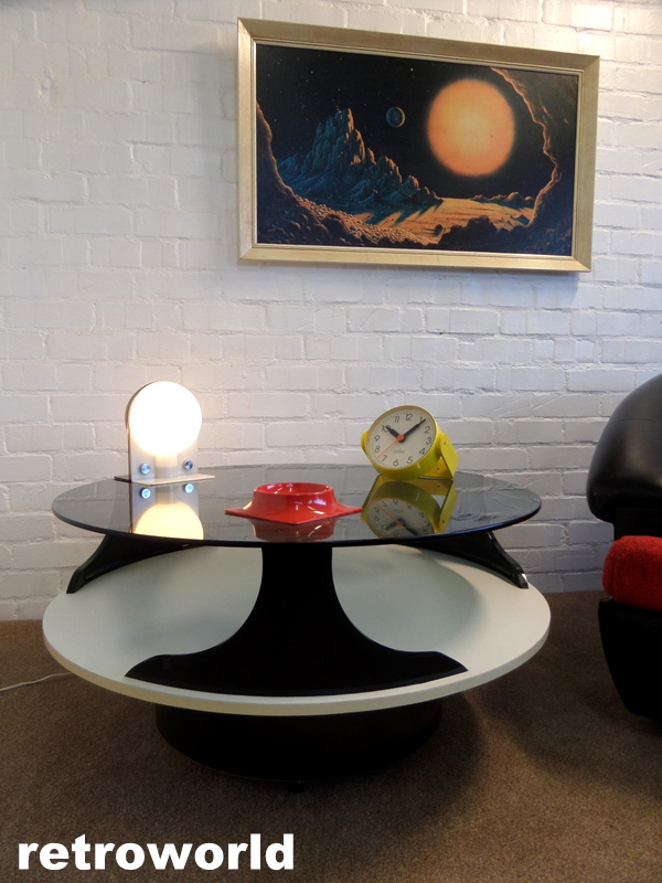 vinatge space age italian coffee table