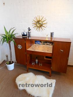 50s 60s Vintage Mid Century Retro RIVINGTON of LONDON Cocktail Drinks Cabinet