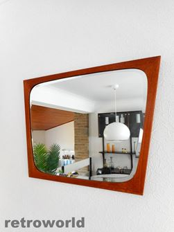 50s 60s Mid Century Vintage Retro Atomic Era Wall Mirror